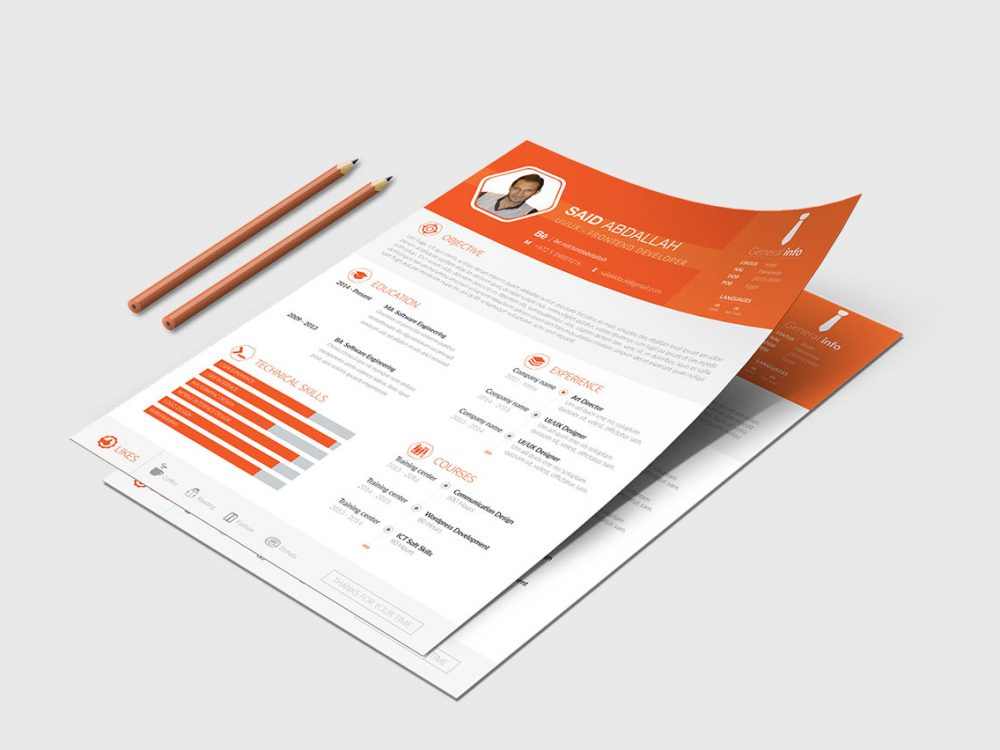 Modern Minimal Resume Template Free Download Psd Doc Format Resumekraft
