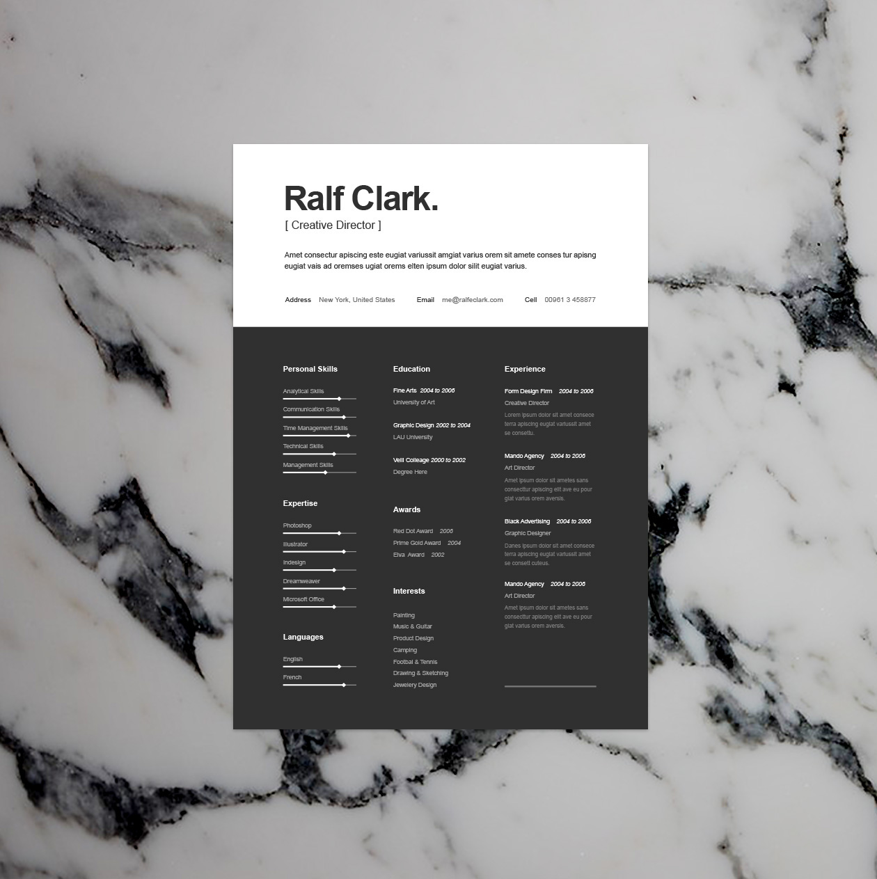 Simple And Clean Black Amp White Resume Template Resumekraft