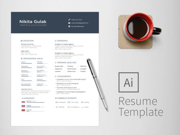 Two Page CV Template Free