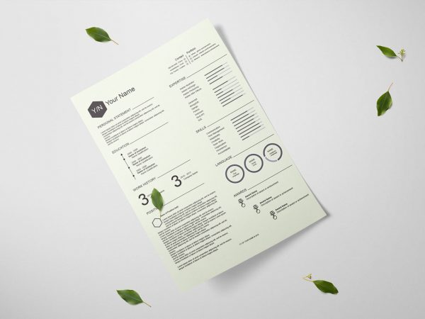 Adobe Illustrator Resume Template Free Download