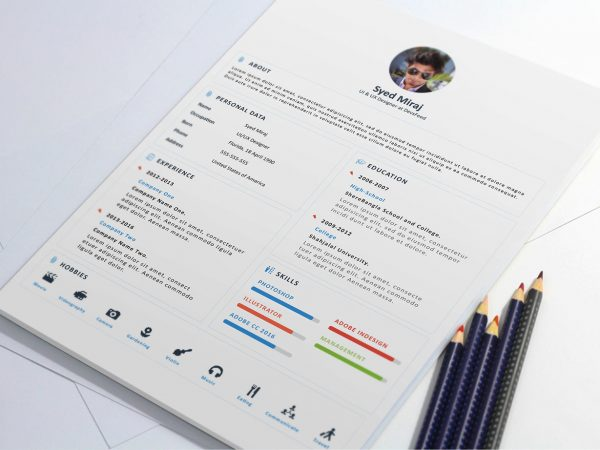 Attractive Resume Template Free