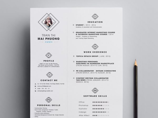 Best Clean Resume Template Free Download