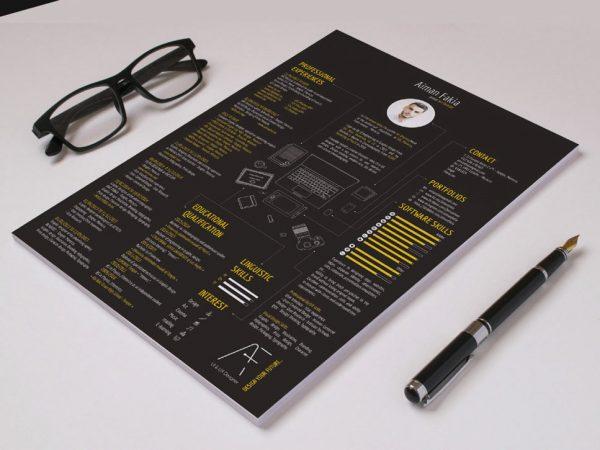 Free Black Color Resume