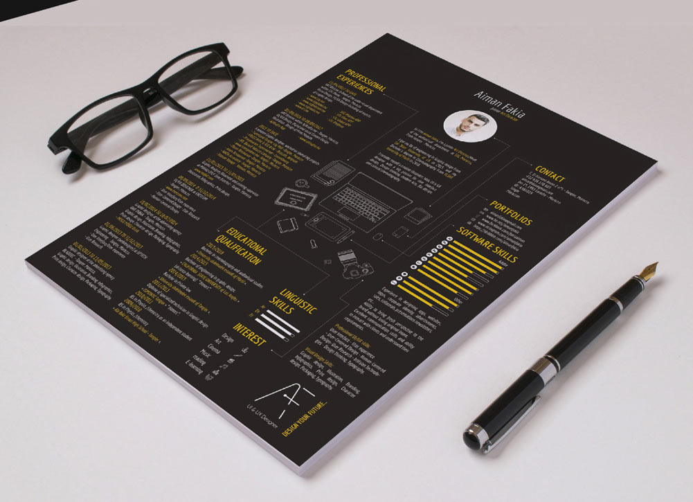 free black color resume template