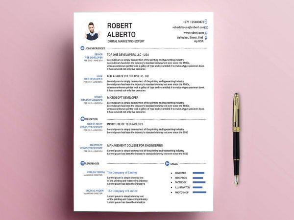 Free Resume Templates In Illustrator Format 2020 Resumekraft
