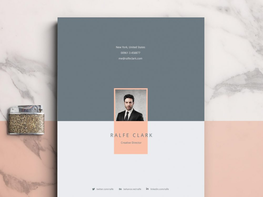 Clever Free Resume Template