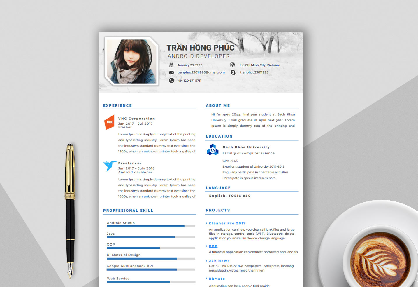 creative free resume template in word format