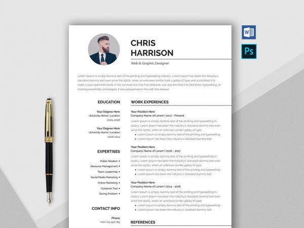Professional Resume Template in Word