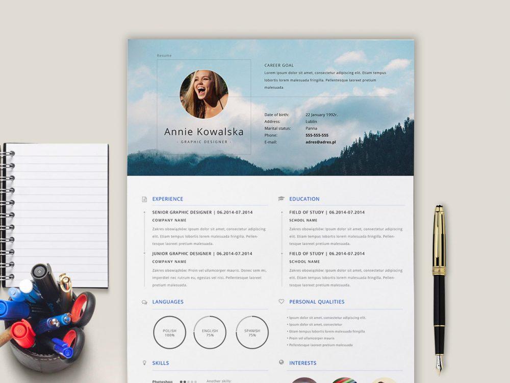 Minimalistic Free Resume