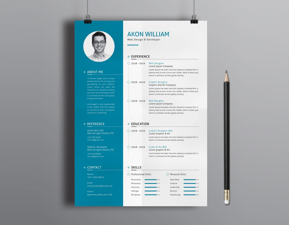 best free modern resume template