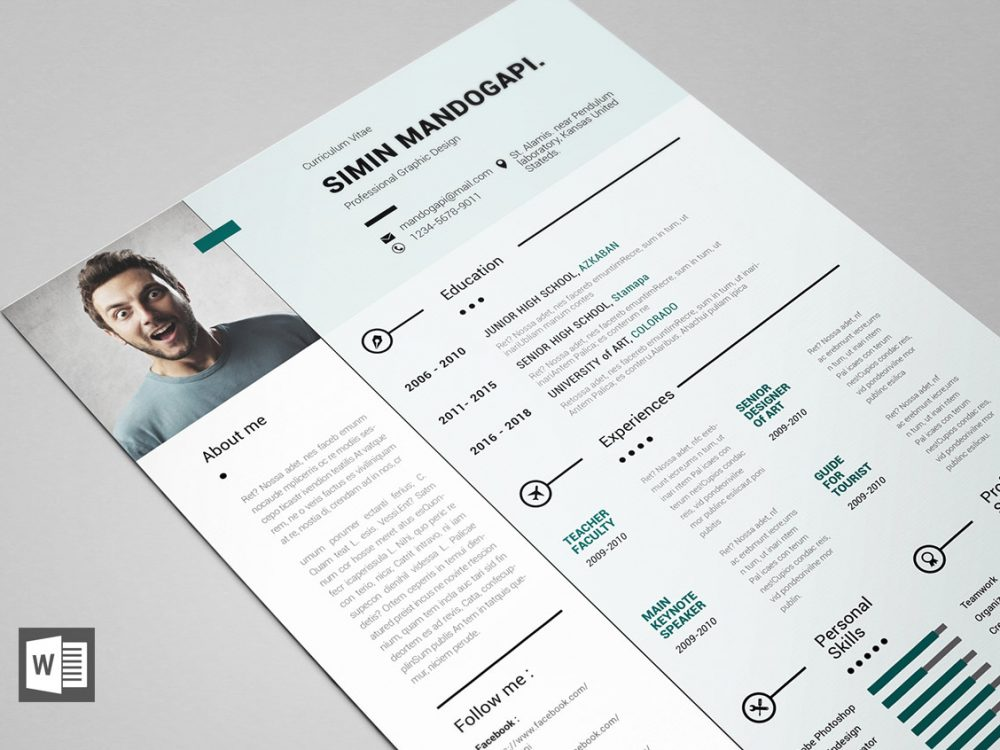 Free Modern Resume Template For Word Resumekraft