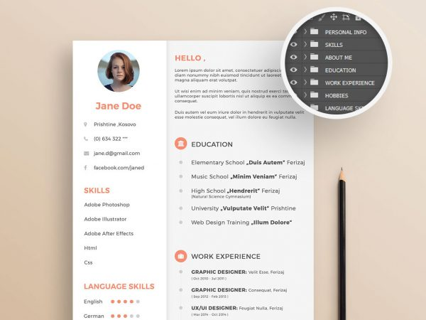 Free Resume Template Creative