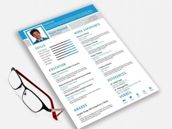 Resume Template Adobe Illustrator