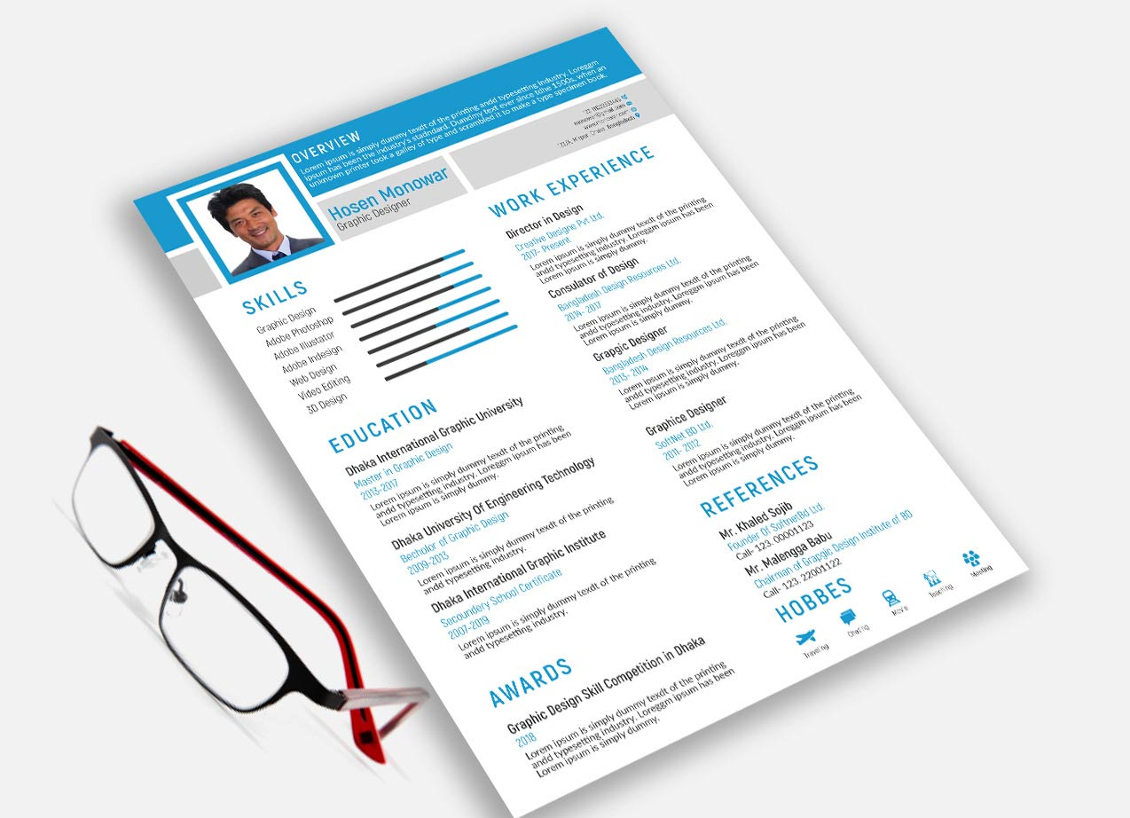 free resume template adobe illustrator