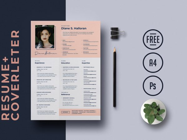 2020 Best A4 Resume Template Free Download Page 7 Of 10