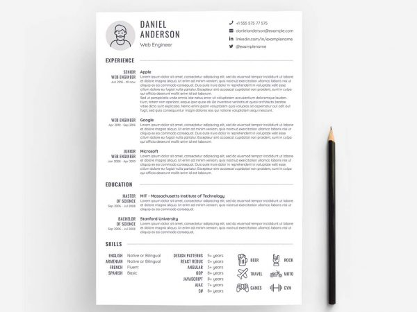 Free Resume Template Download PSD