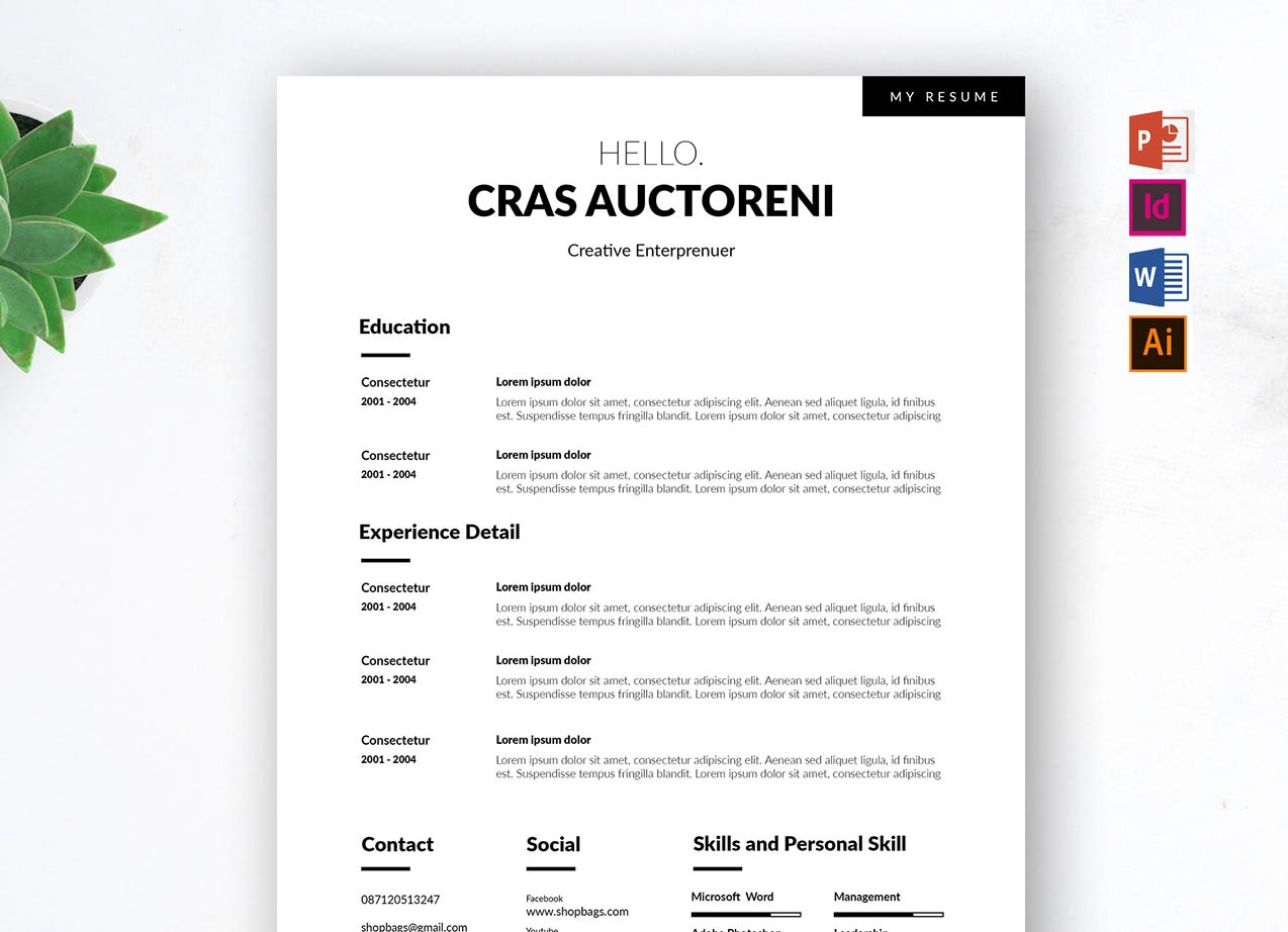 free resume templates to download  word  psd  ai