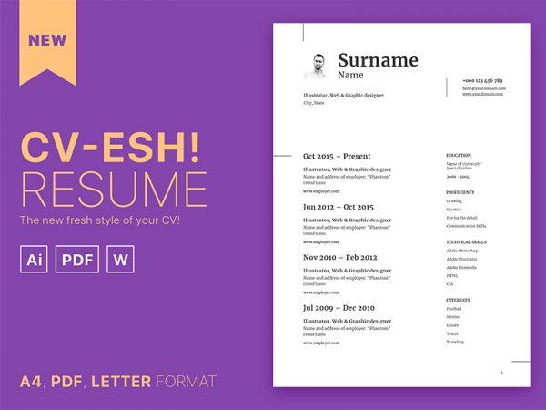 Free Word Format Resume