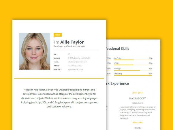 Curriculum Vitae Template Pdf from resumekraft.com