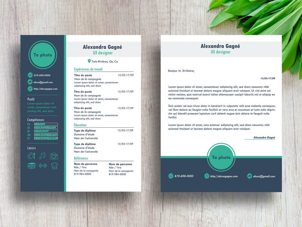 Best Free Modern Resume Template with Cover Letter - ResumeKraft