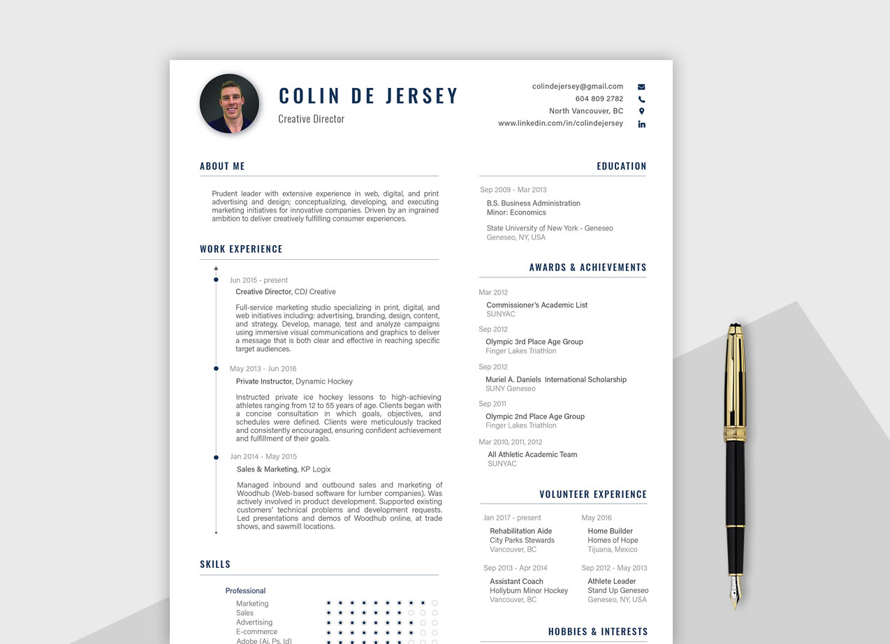 best free professional resume template