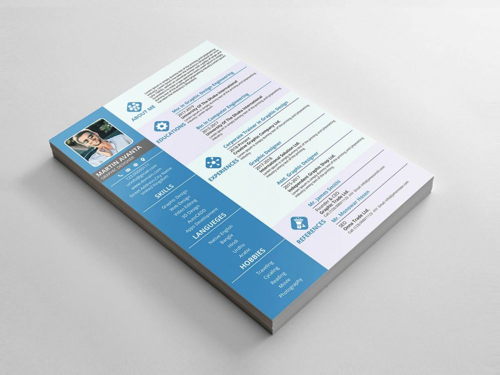 Resume Template PSD Format
