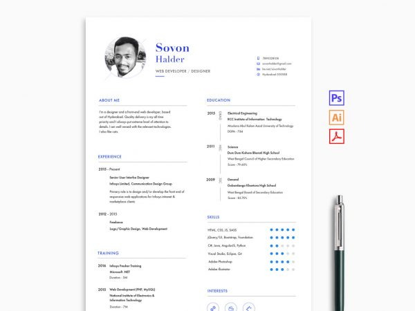 Creative Resume Template Free