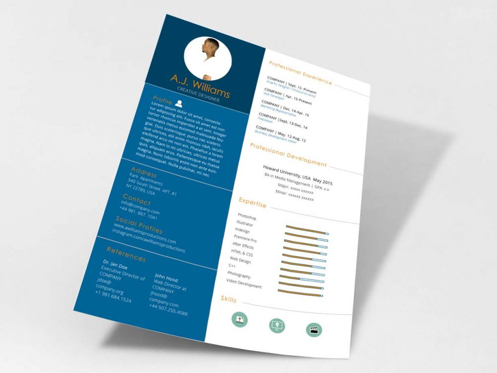 Modern Professional Resume Template Free Word Format Resumekraft