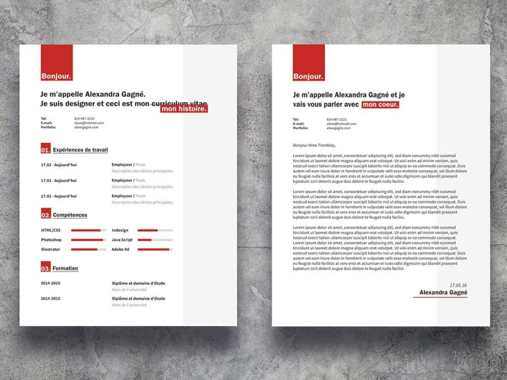 CV Template With Cover Letter