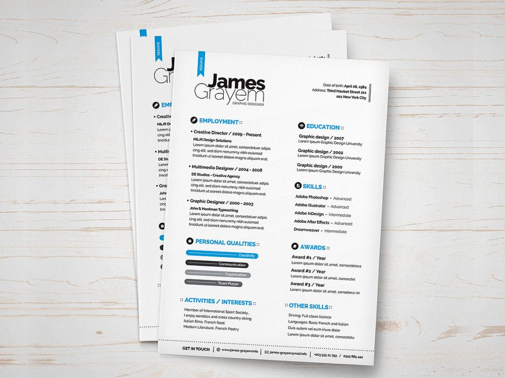 Trendy Resume Template Free