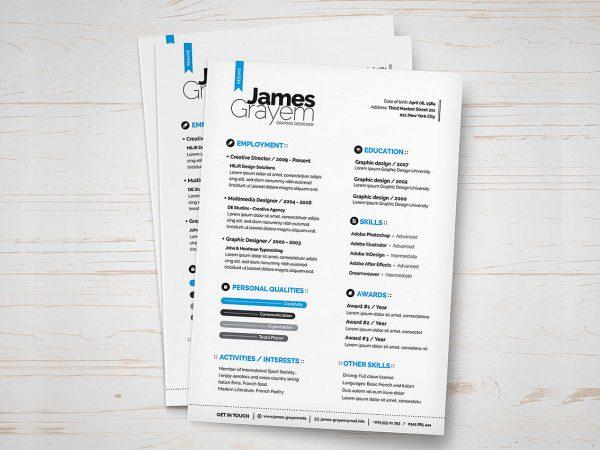 Trendy Resume Template Free