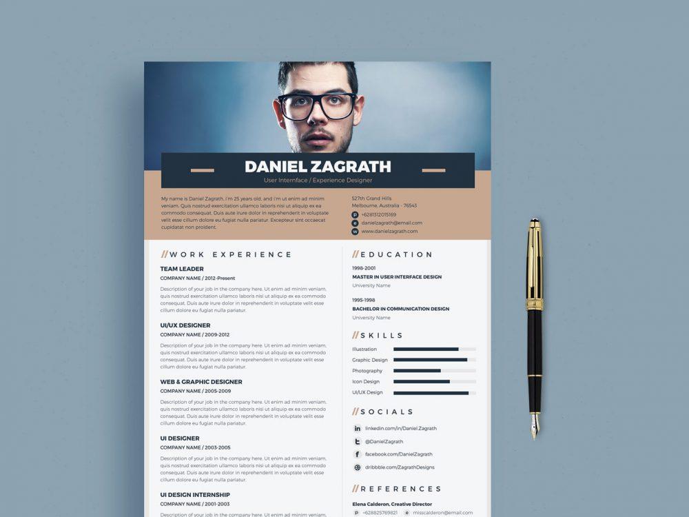 Trendy Free Resume