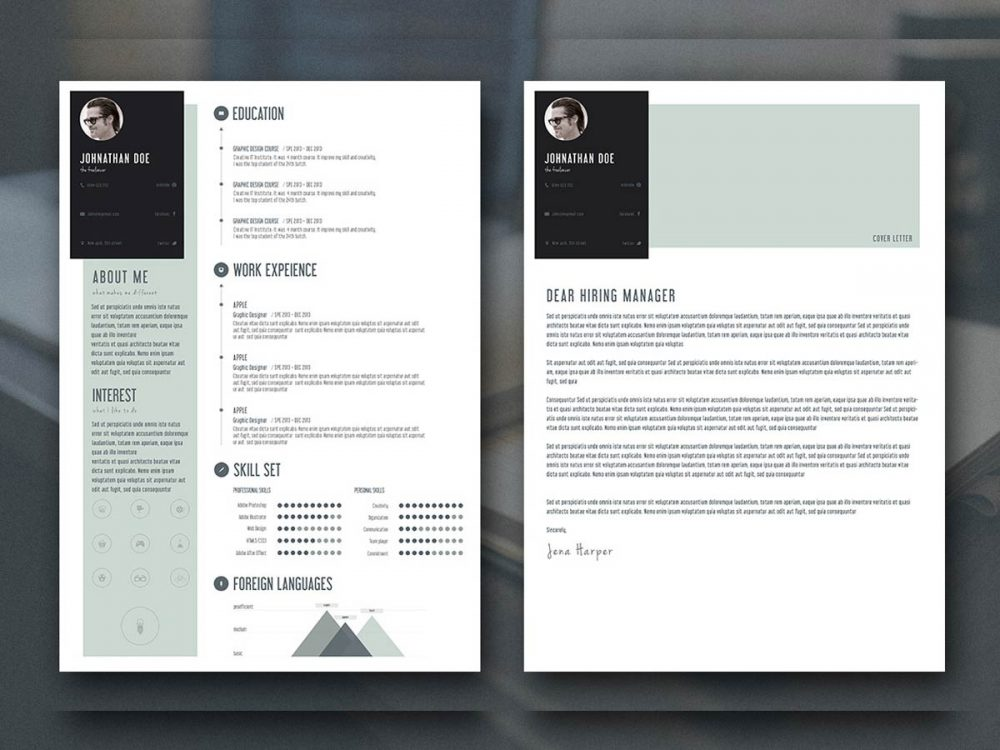 Creative Personal Resume Template Free