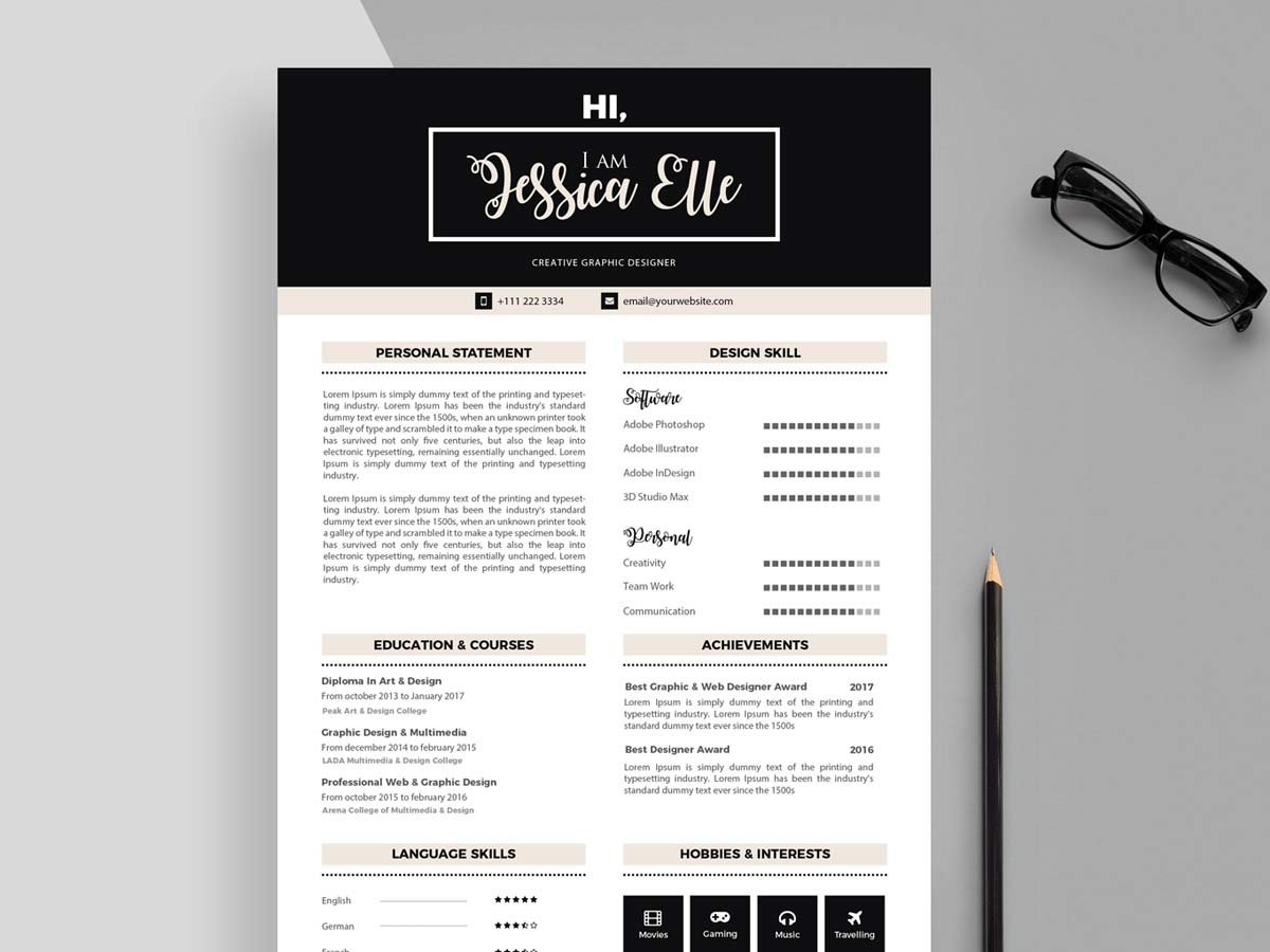 Editable Cv Templates Free Download Resumekraft