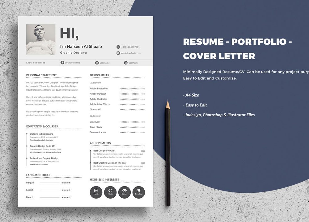free portfolio resume template resumekraft