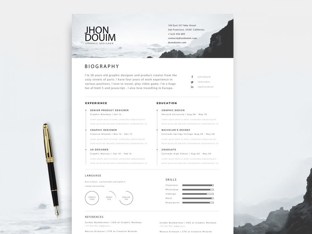 Free Printable Resume