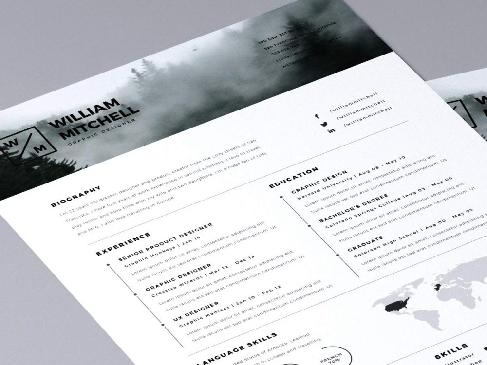 Free Simple Clean Resume Template