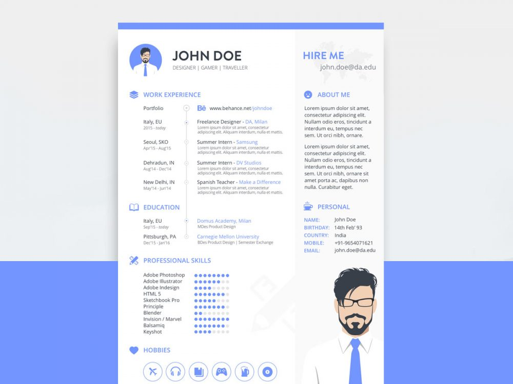 Free Sketch Resume Template