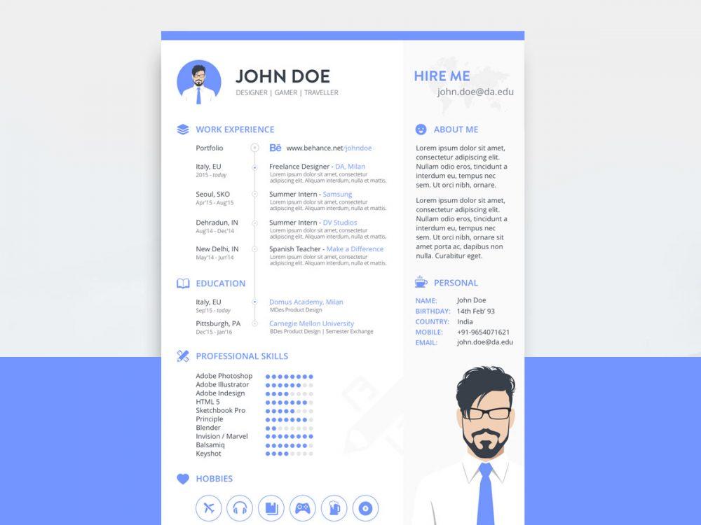 Free Sketch Resume Template