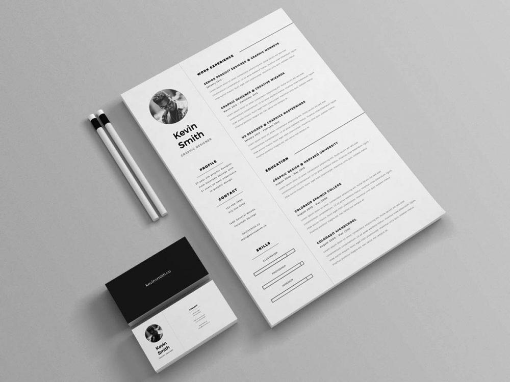 Minimal Resume Template Free Download Resumekraft