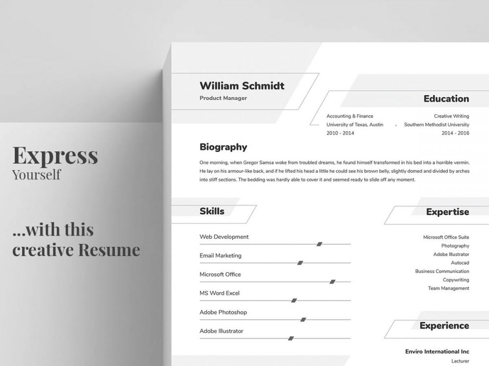 Word Format Resume Template Free