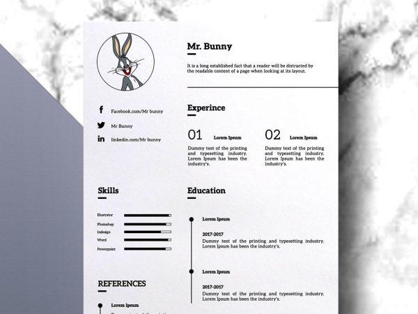 Minimal Free Resume Template