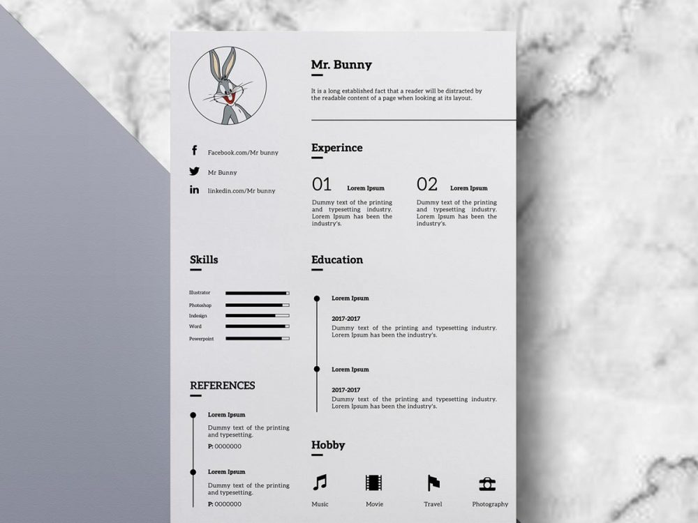 Clean Simple Resume Template