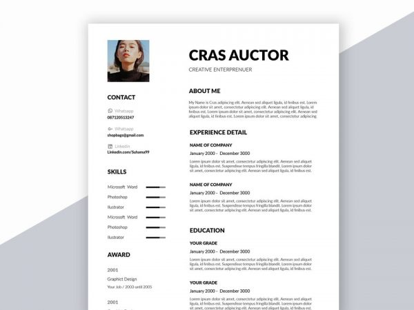 Creative Free Resume Template in Word