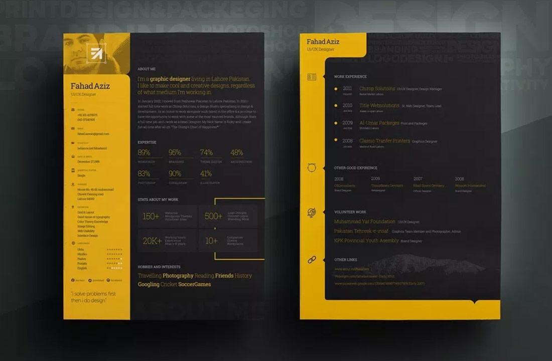 Dark Background Free Resume Template Resumekraft