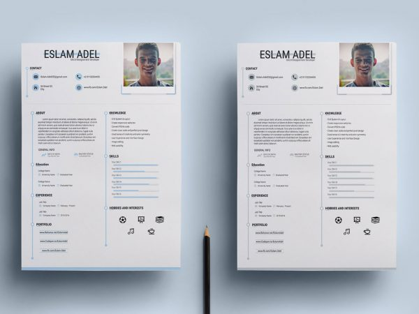 Free Clean CV Resume Template