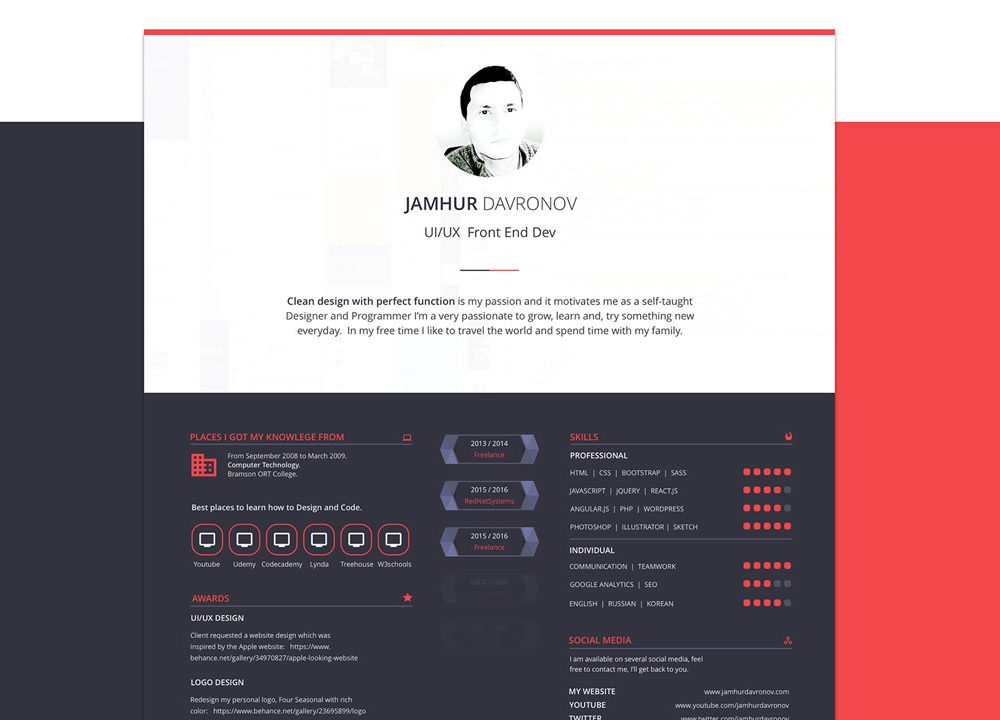 Creative Resume Template Free Download Resumekraft