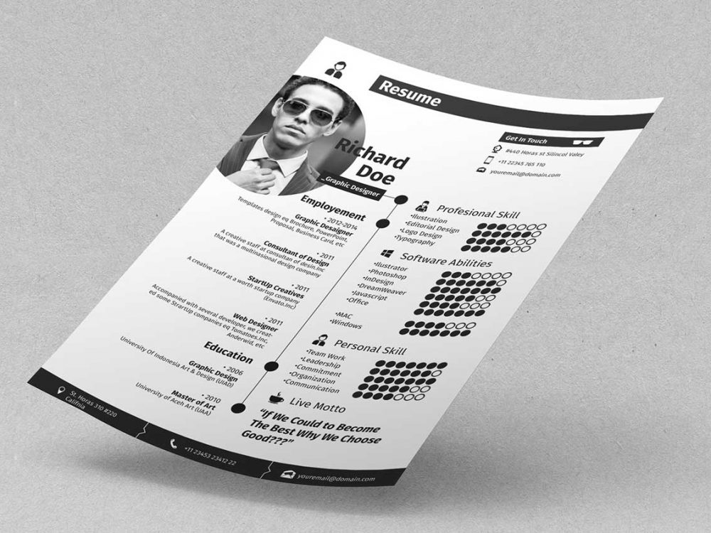 Free Photoshop Resume Template Download Resumekraft
