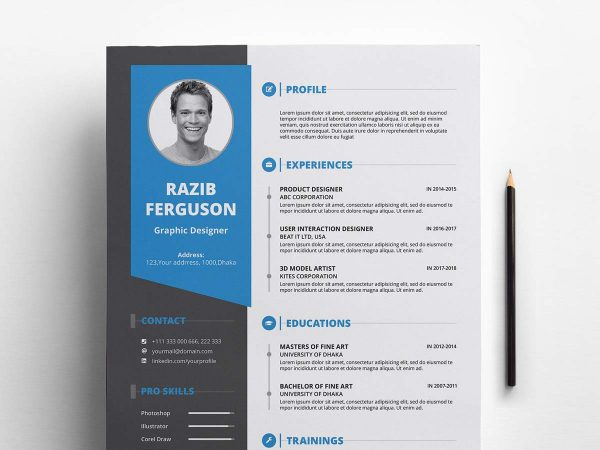 indesign resume  u0026 cv template free download 2019