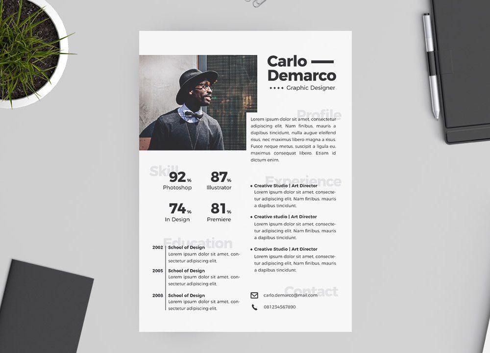 Graphic Designer Free Resume Template